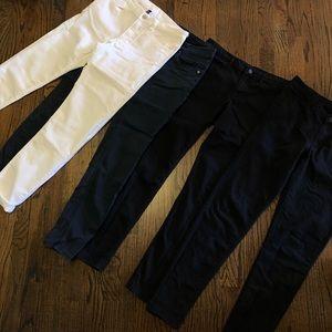 H&M skinny pants size 12. 2 black, 1 navy & white